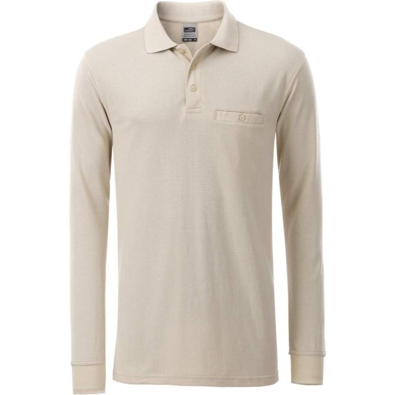 outlet store 17c99 8a9d8 James & Nicholson | JN 866 Herren Workwear Polo mit Brusttasche langarm