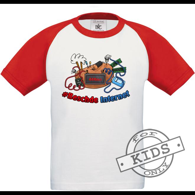 BESCHDE INTERNET Baseball T-Shirt kids