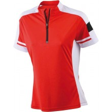 JN 451 Ladies Bike-T-Shirt Half Zip