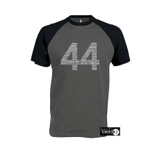 44white Baseball T-Shirt