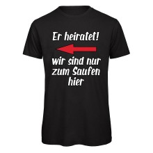 Polterabend-Tshirt ER HEIRATET! | links
