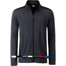 James & Nicholson | JN 862 Herren Workwear Strickfleece Jacke