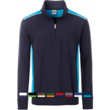 James & Nicholson | JN 868 Workwear Half-Zip Sweat